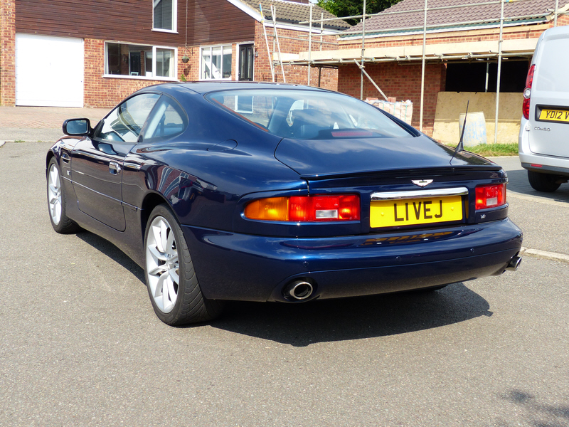 aston martin db7 please note that the bonnet vents above are not standard